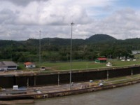 Ship Leaving Miraflores Locks - Panama Canal, Panama