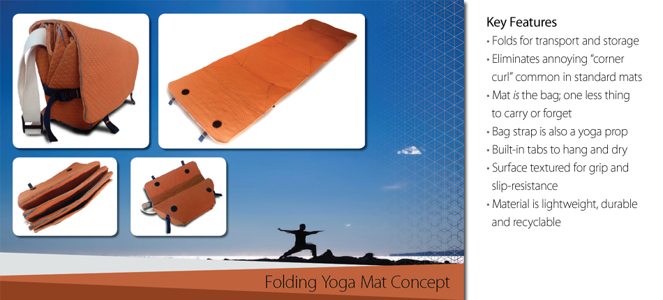 Folding Yoga Mat Concept